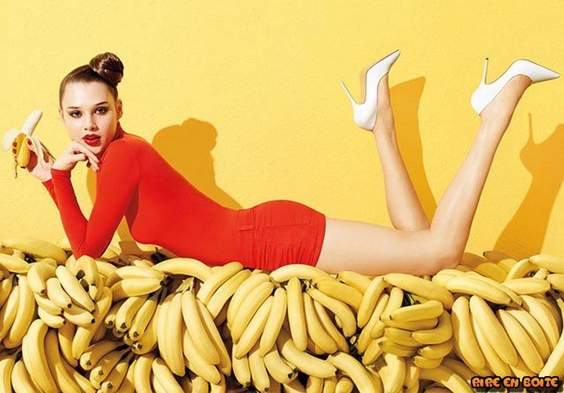 Les filles aiment la banane