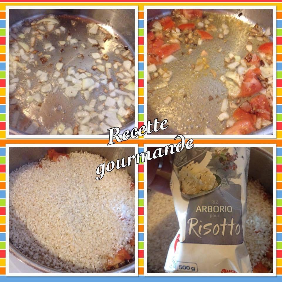 risotto de fruit de mer safrané au chorizo