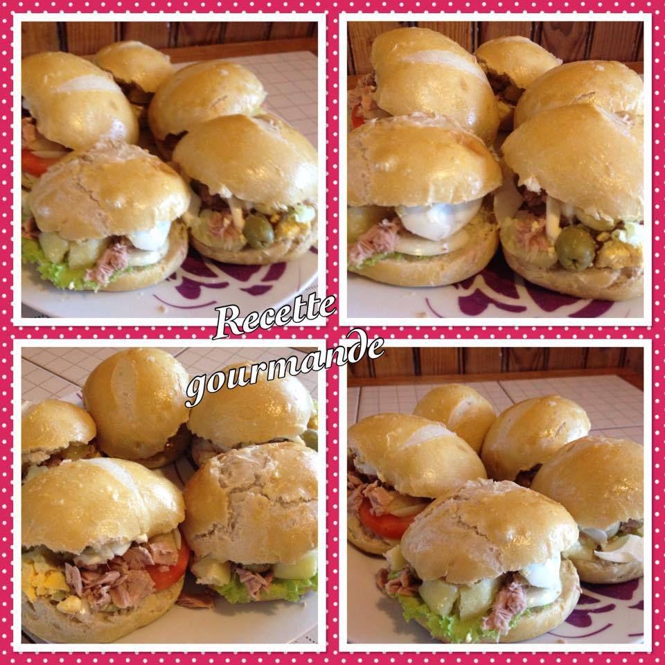 pains maison &quot&#x3B;facon pain bagnat &quot&#x3B;au thon