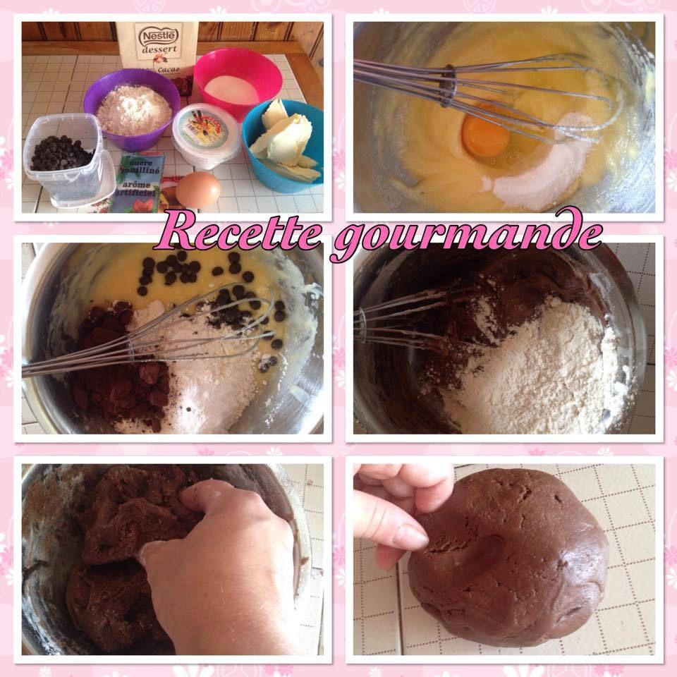 le broockies chocolat et choco blanc speculos
