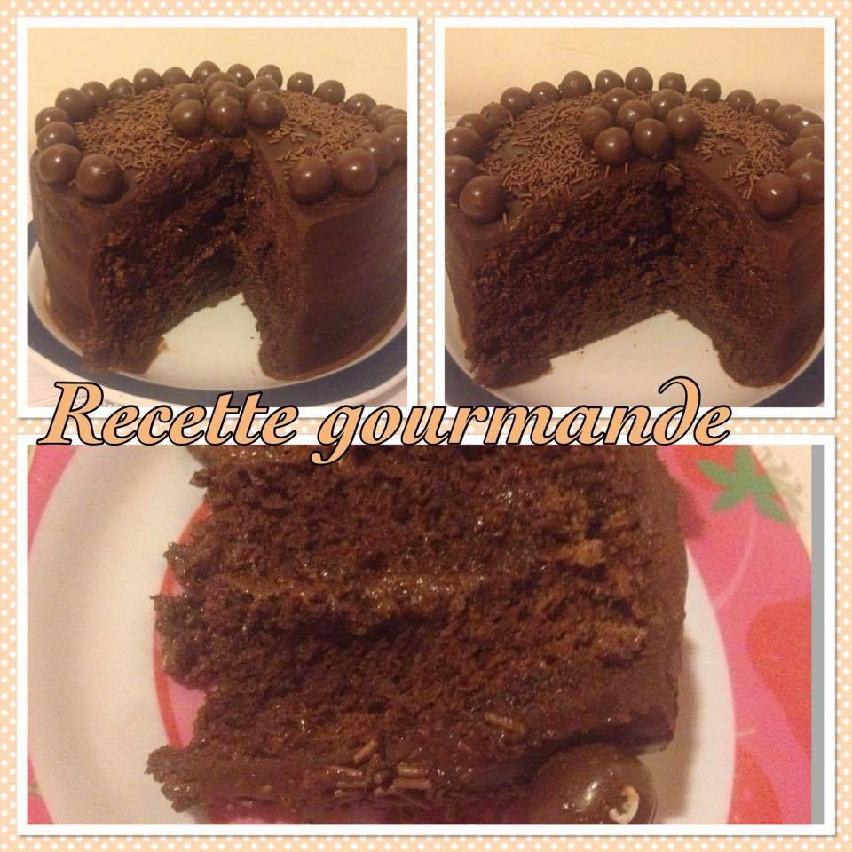 gateau chocolat a la mousse au chocolat recouvert de maltesers