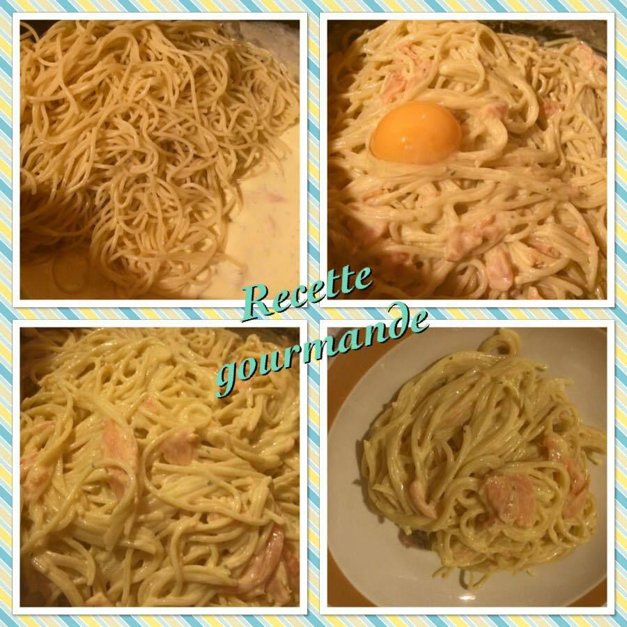 Spaghetti au saumon à la crème curry paprika