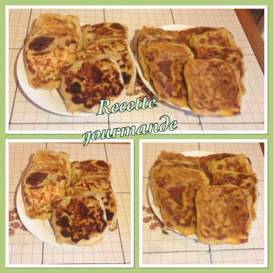 mahdjebs (mesmens) à la chakchouka viande haché et au saumon fromage et au blanc poulet from