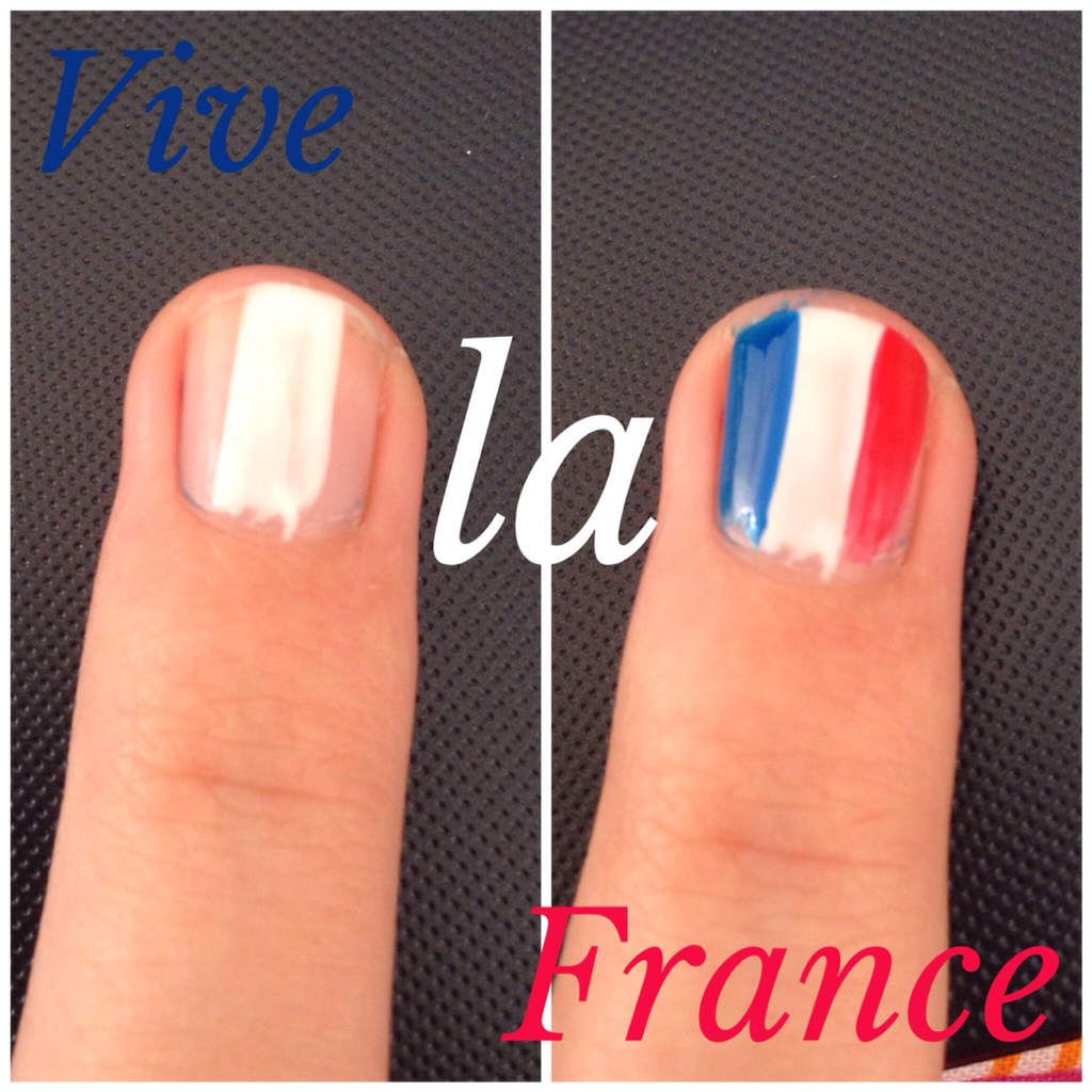 &gt&#x3B;&gt&#x3B; Tuto Nail Art Ultra-rapide : CDM 2014 , vive la France
