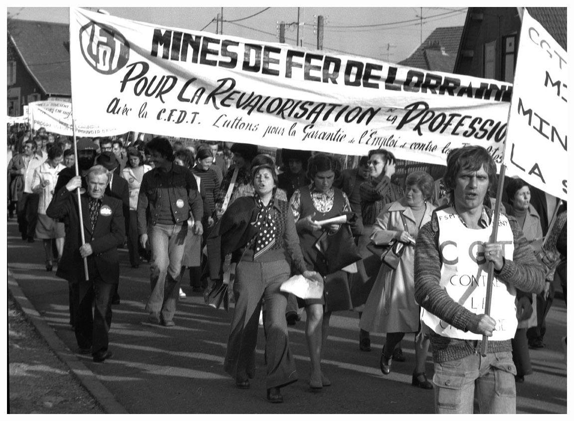 GRÈVE DES MINEURS DE FER - TRIEUX 1963