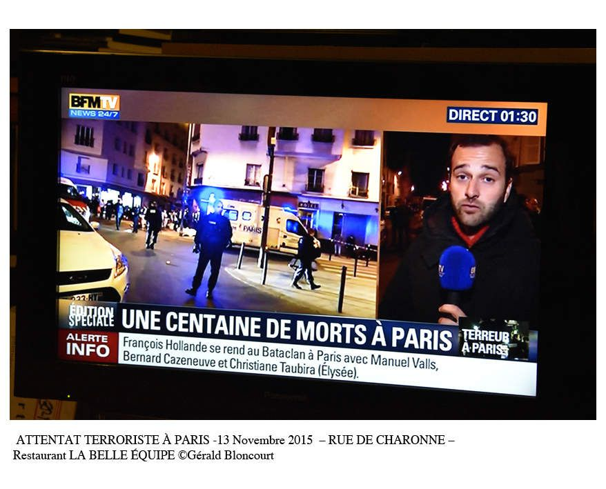 ATTENTAT TERRORISTE À PARIS -13 Novembre  2015