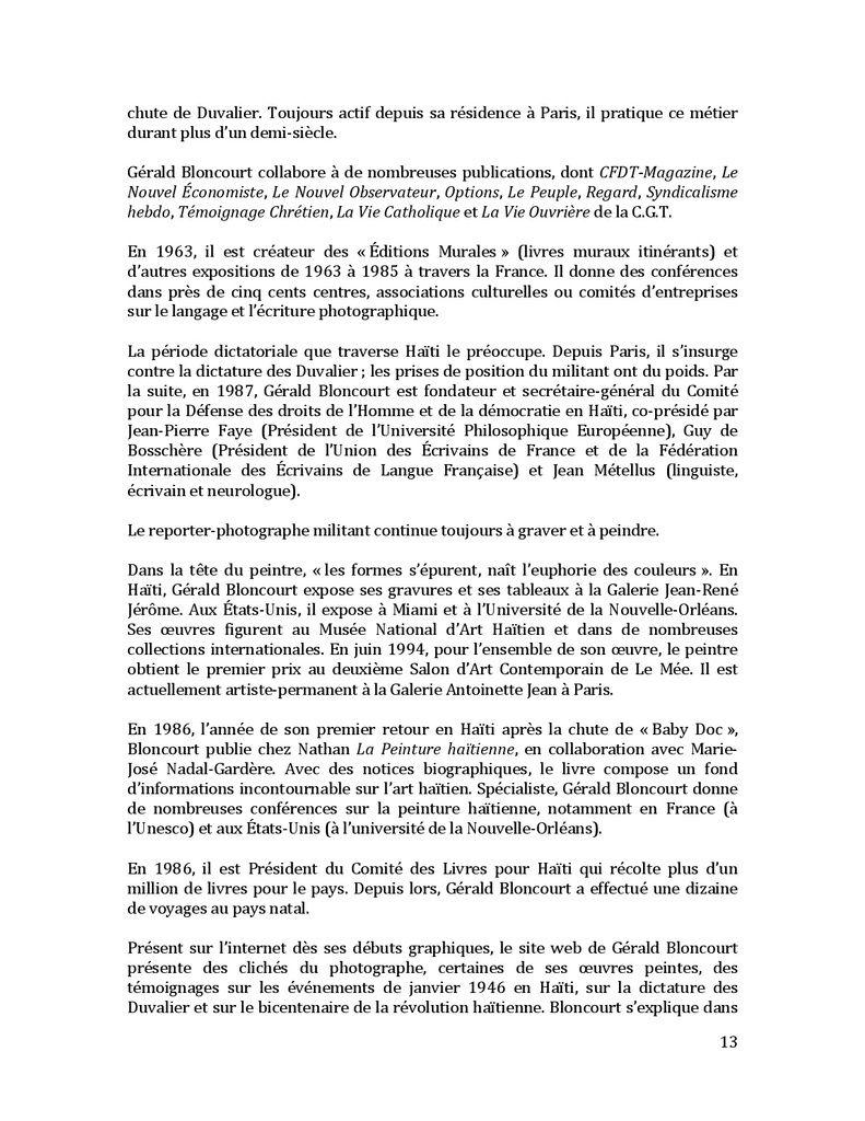 COMEMORATION 1946 EN HAITI AVEC BLONCOURT