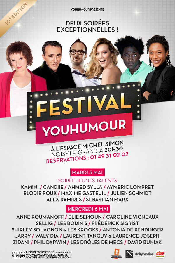 YouHumour : la 10ème édition du festival les 5 et 6 mai !