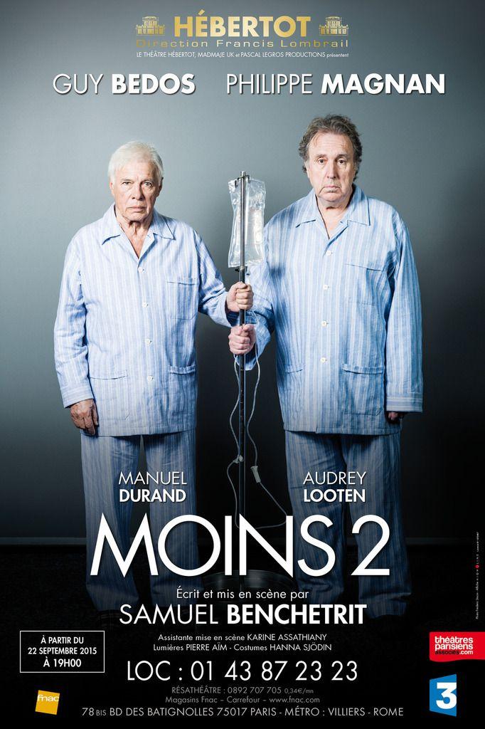 Théâtre : &quot&#x3B;Moins 2&quot&#x3B; avec Guy Bedos et Philippe Magnan