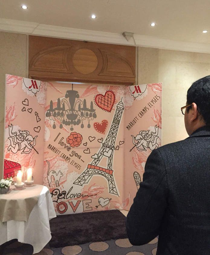 La Saint-Valentin à l'hôtel Marriott des Champs Élysées