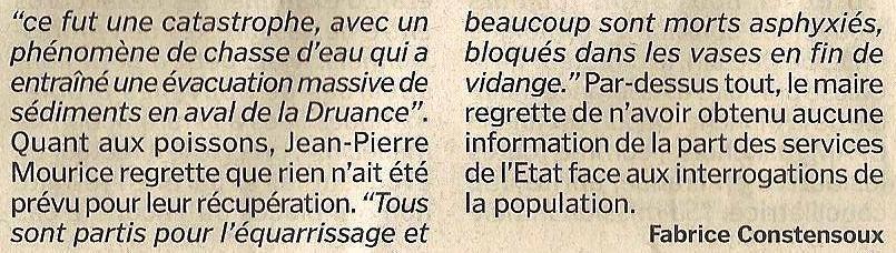 """Barrage de Pontécoulant : """"c'est une catastrophe """""""