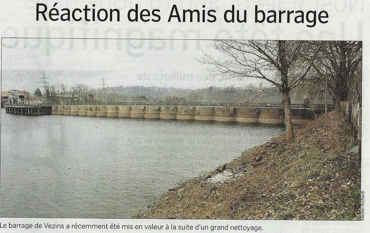 Réaction des amis du barrage