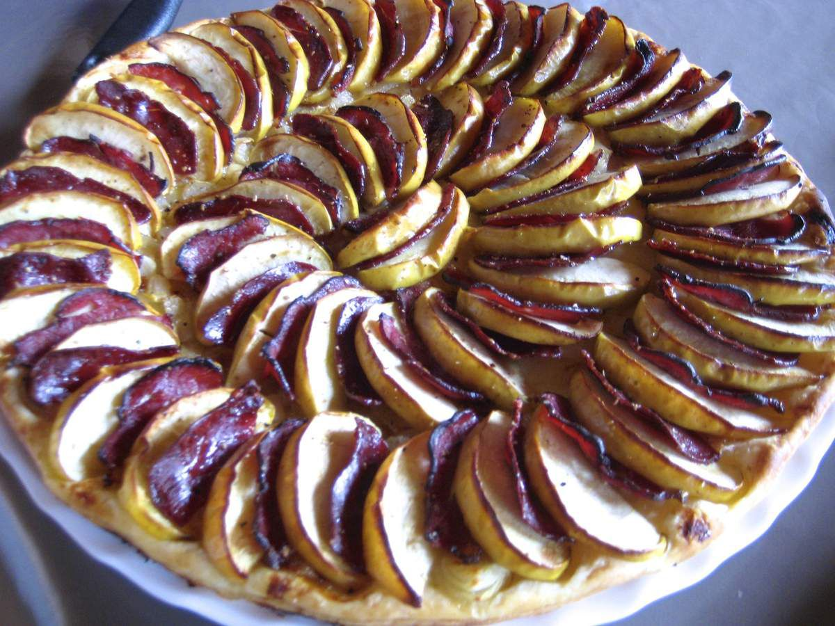 Tarte aux pommes et magret de canard