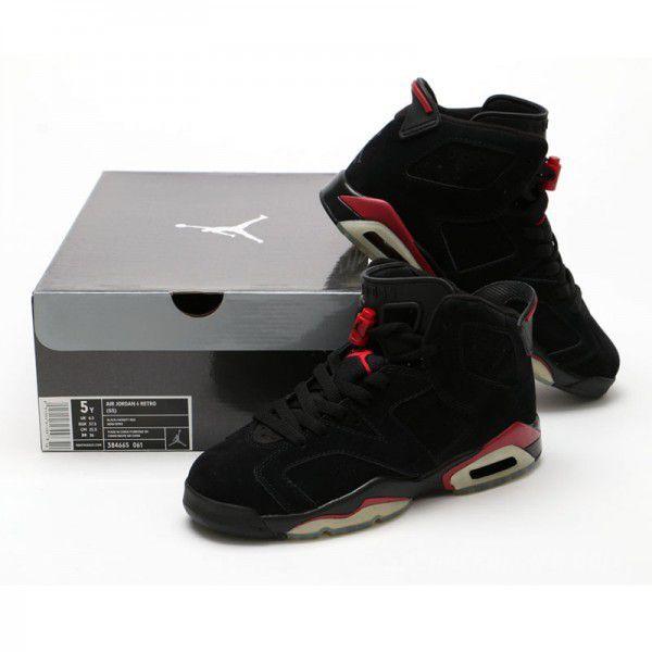 buy online 89ba5 9a6ea Nike Air Jordan 6 Retro GS Black Varsity Red Gamma Blue ...