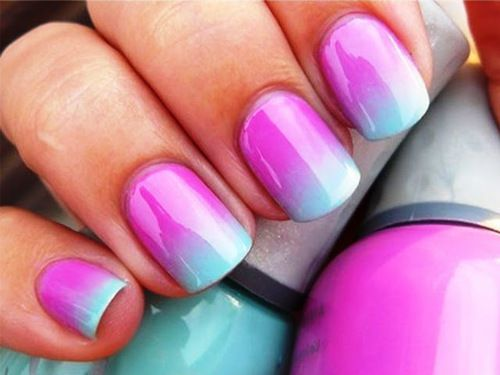 Tuto nail art Tie and dye