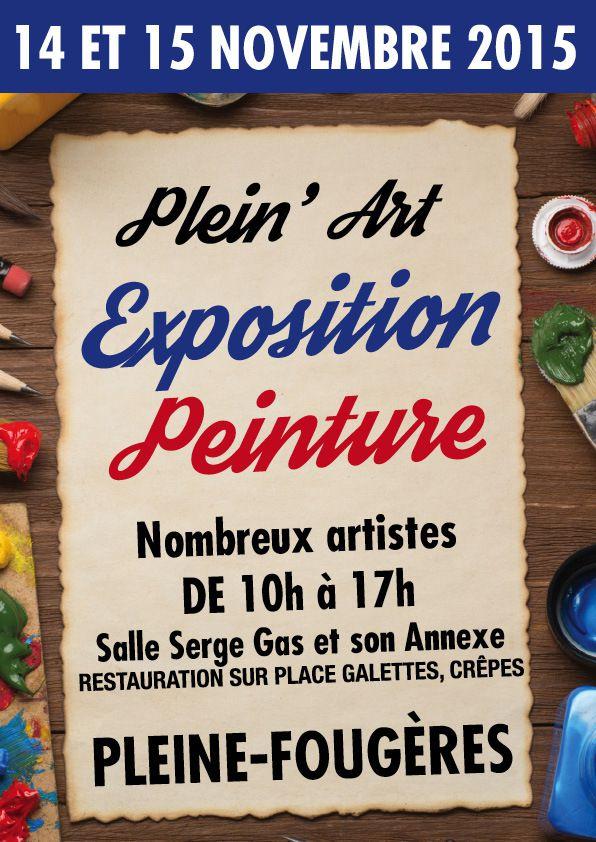 Plein'Art une exposition à PLEINE-FOUGERE