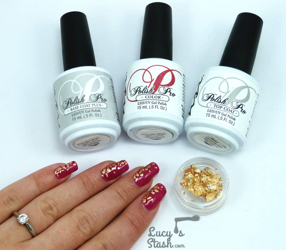 My Golden Leaf Gel Polish Nails For A Wedding + TUTORIAL