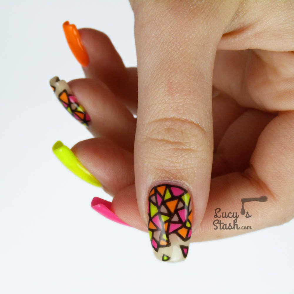 Neon Stained Gl Nail Art Gel