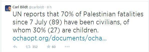 => Les civils palestiniens qui meurent c'est mal