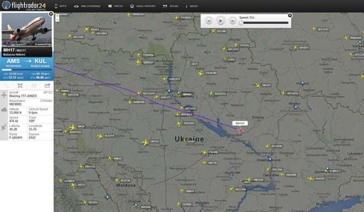 Kiev a communiqué trop vite que le Boeing s'était écrasé (aiguilleur du ciel espagnol).
