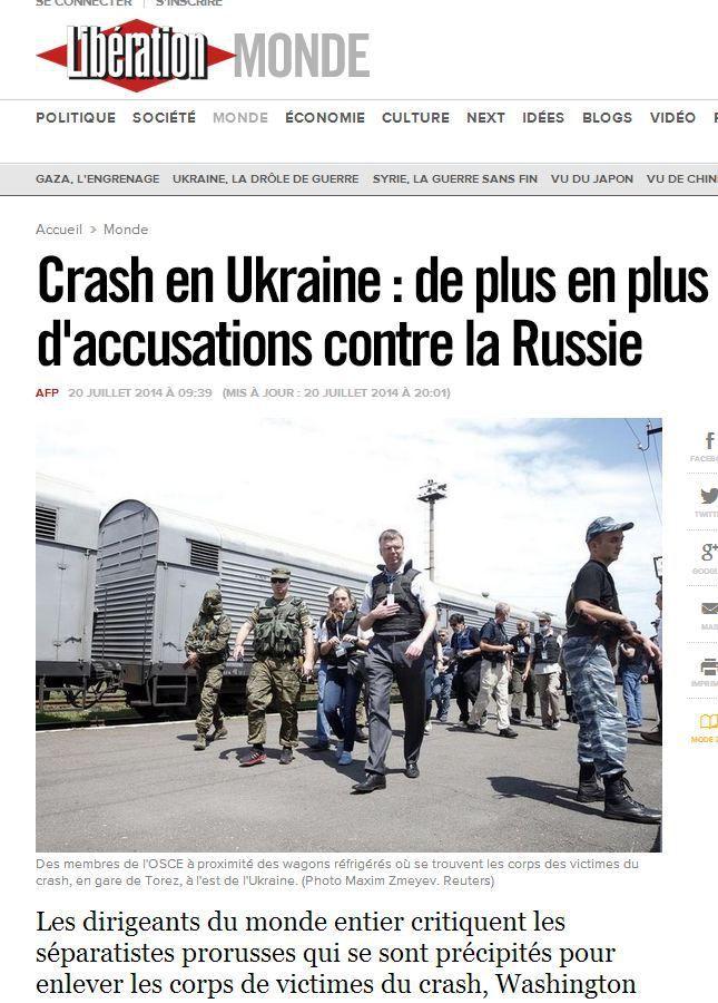 [Analyse des médias, spécial journaliste] MH17 : 4 énormes manipulations colportées par nos médias, et jamais corrigées…