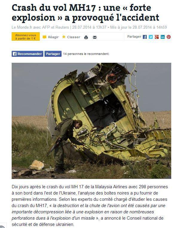 Témoignage de Michael Bociurkiw, un des premier experts de l'OSCE sur le site du MH 17