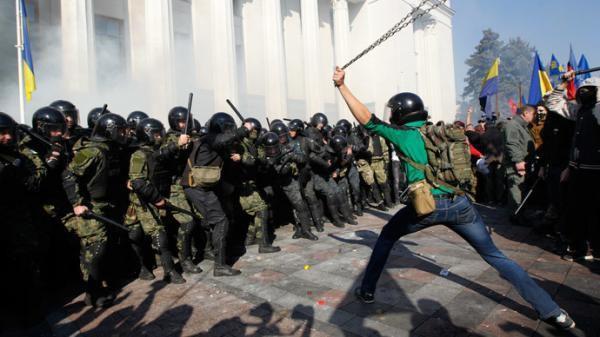 De l'« Euromaïdan » à la guerre civile, terreur et terrorisme en Ukraine (2013-2014).