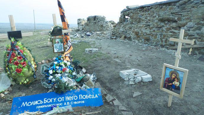 Enterrement : un héros de la République Populaire de Donetsk à Saur-mogila. (Photo: Pepe Escobar)