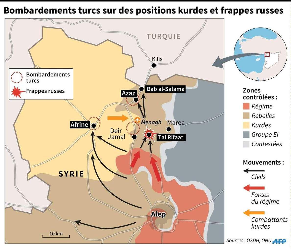 De quel droit la Turquie bombarde-t-elle le nord de la Syrie, Etat souverain, zone contrôlée par les Kurdes, qui se battent contre Desch ? L'info et le commentaire de &quot&#x3B;canempechepasnicolas&quot&#x3B;