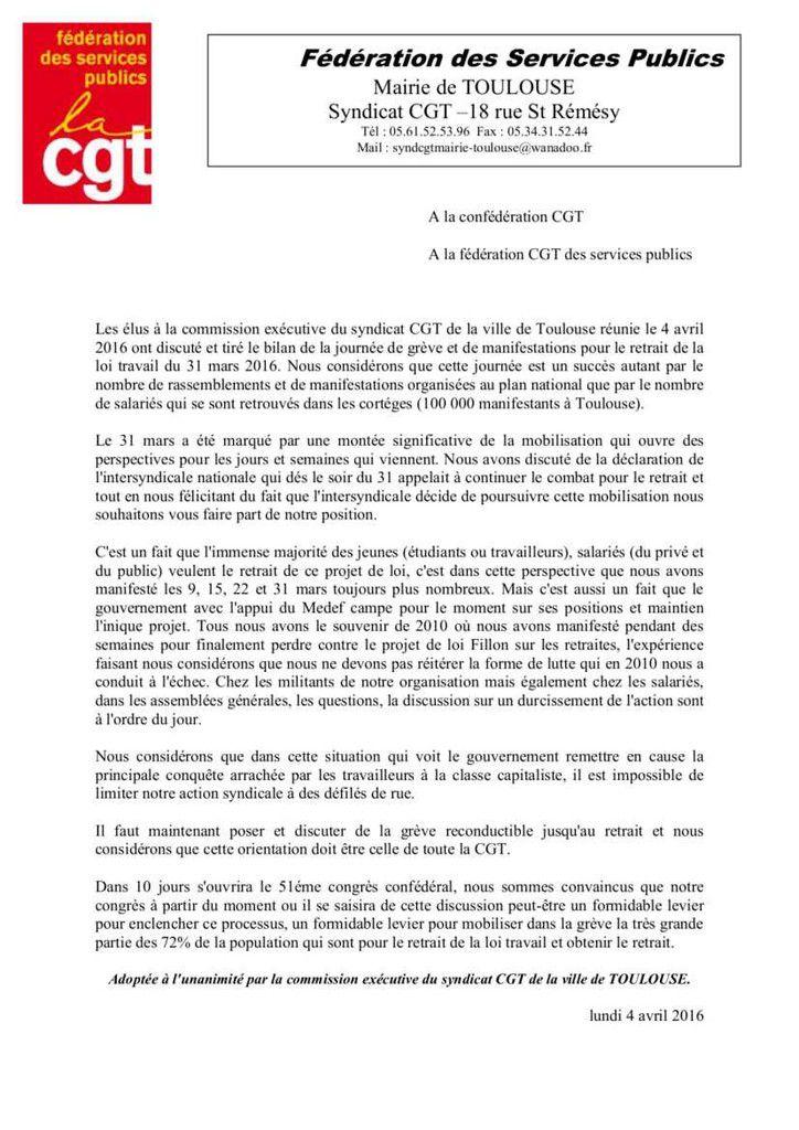 Les actions, journées de mobilisation et Nuit Debout, doivent conduire à la victoire sur la politique antisociale ordonnée par l'Union Européenne.