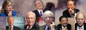 De gauche à droite et de haut en bas : Mary Landrieu ( ex sécurité intérieure ) , Rupert Murdoch, Larry Summers , James Woolsey ( ex CIA ) , Dick Cheney, Jacob Rothschild , Bill Richardson (ex gouv. du Nouveau-Mexique ) et Michael Steinhart ( spéculateur professionnel ) ont tous des intérêts dans Genie Oil & Gas