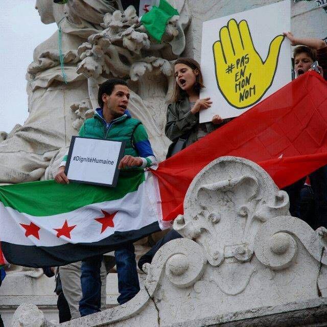 Rassemblement anti-Assad – Place de la République, Paris, 5 Septembre 2015