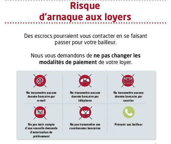 ATTENTION ! Arnaque aux loyers