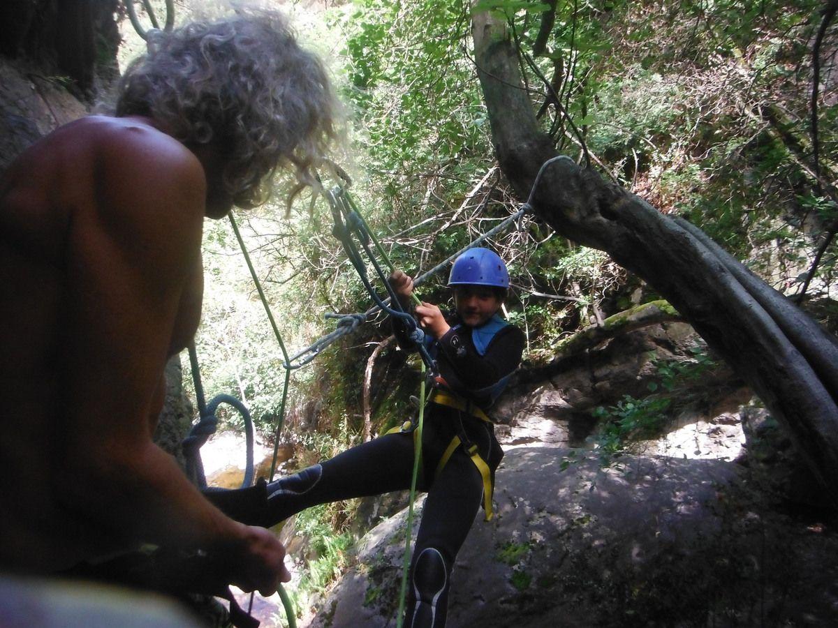 canyon de Thuès le 10 août 2017 avec David