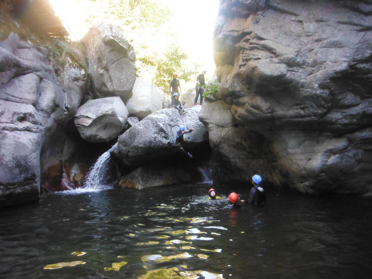 canyon de Molitg le 22 août 2017 avec David