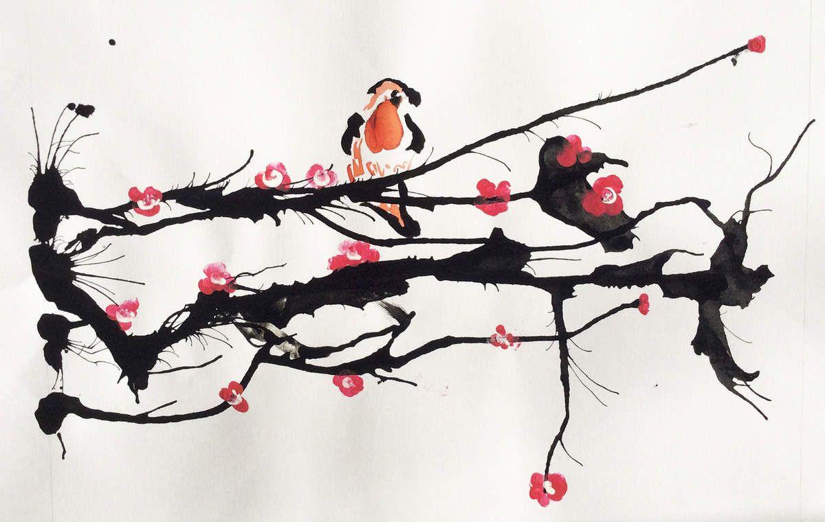 tatouage fleur de cerisier aquarelle printablehd. Black Bedroom Furniture Sets. Home Design Ideas