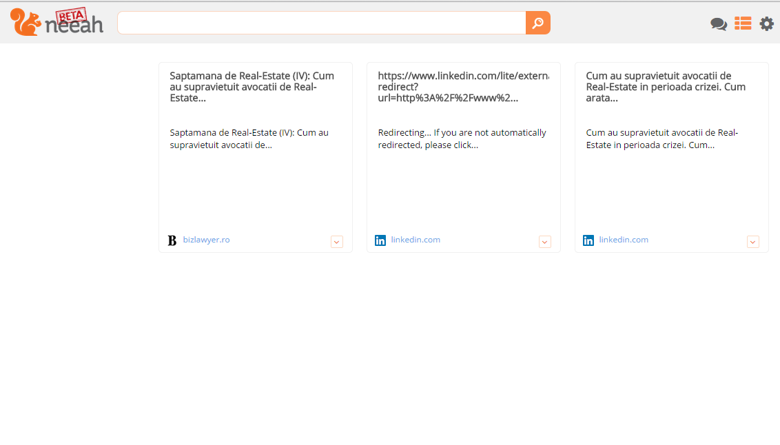 This is how Neeah's panel of accessed websites looks like
