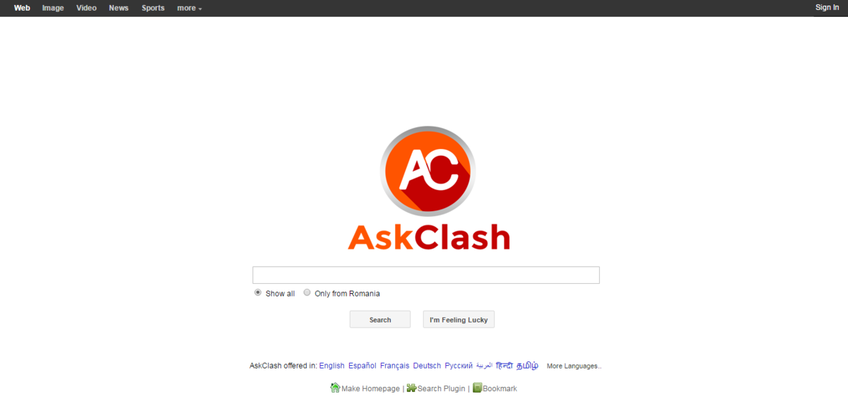 AskClash provides search offers for various media content