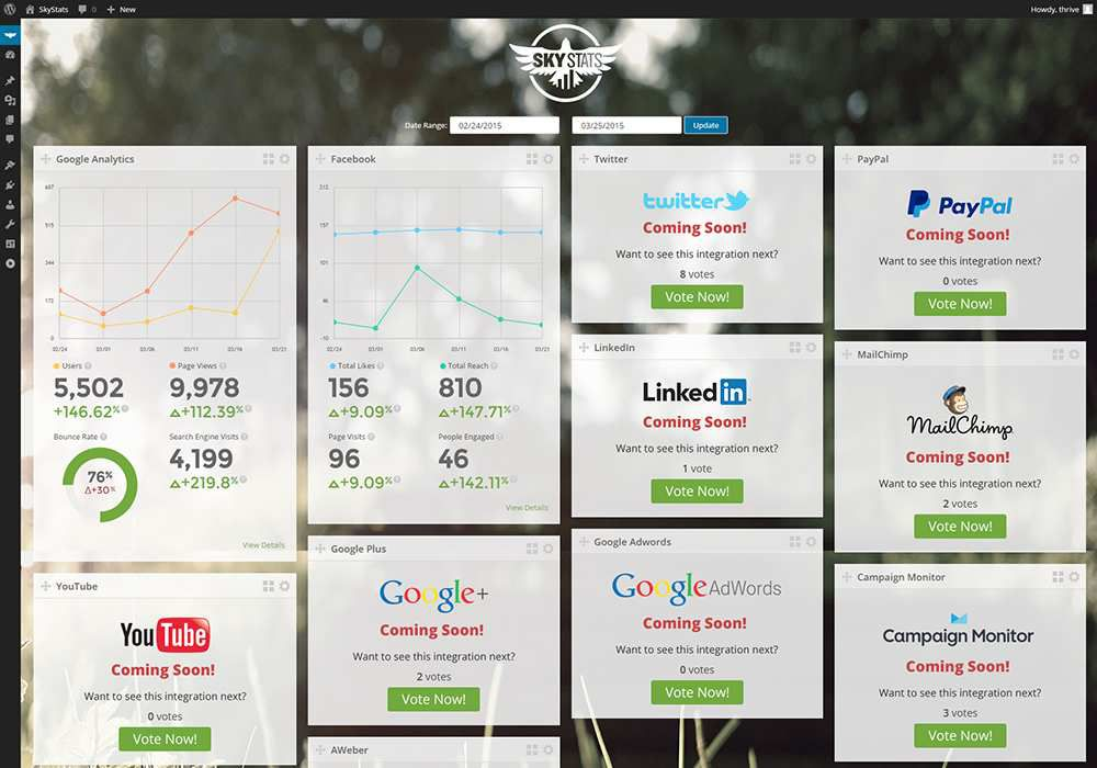 (P) Track your Wordpress site with this magical dashboard