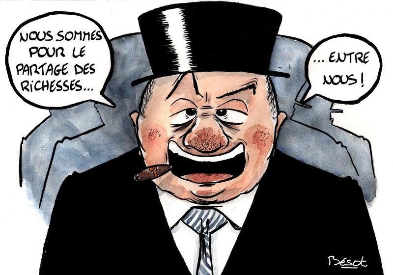 En privatisant le bien public le gouvernement vole le peuple français