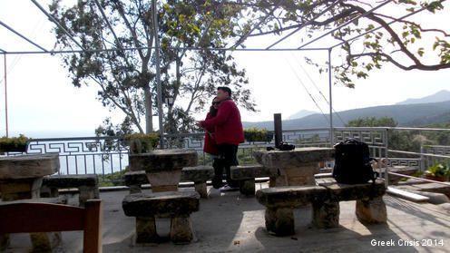 Touristes Chinois à Égine. Décembre 2014