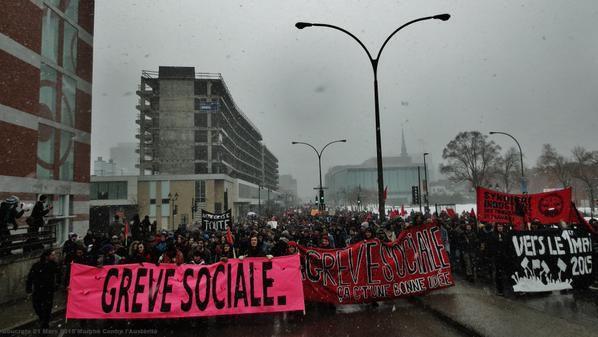 21/03/15 Manifestation dans les rues de Montréal contre l'austérité