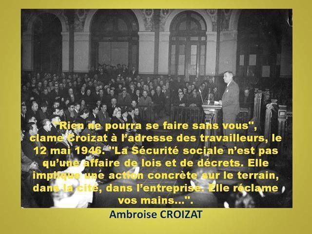 70 eme anniversaire de la sécurité sociale. RÉTABLISSONS LA VÉRITÉ HISTORIQUE par MICHEL ETIEVENT