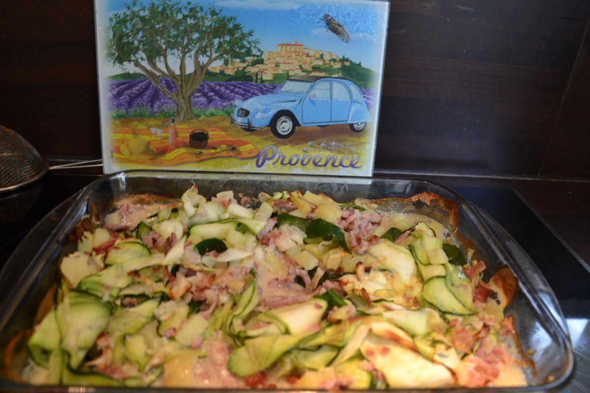Gratin de pommes de terre et jambon la cancoillotte ww au thermomix kanisette - Gratin de pomme de terre jambon ...