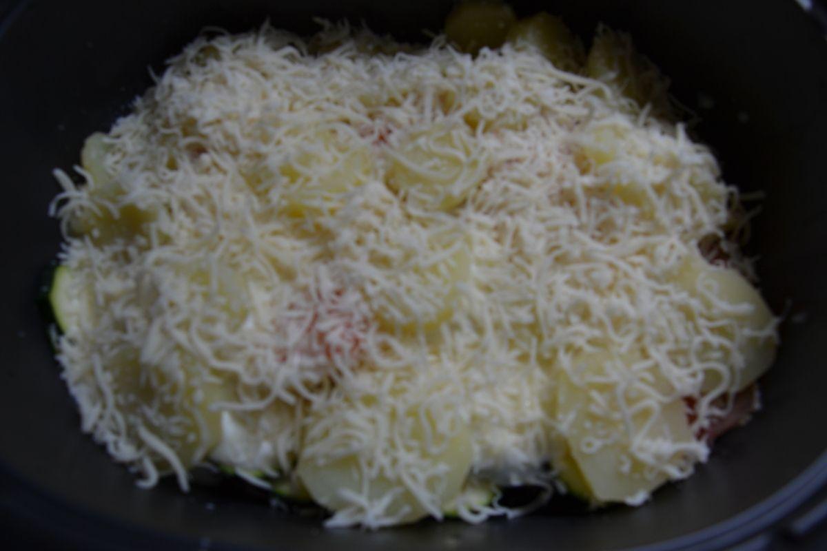 Gratin pomme de terre, courgettes et saumon fumé 5 💚💙💜