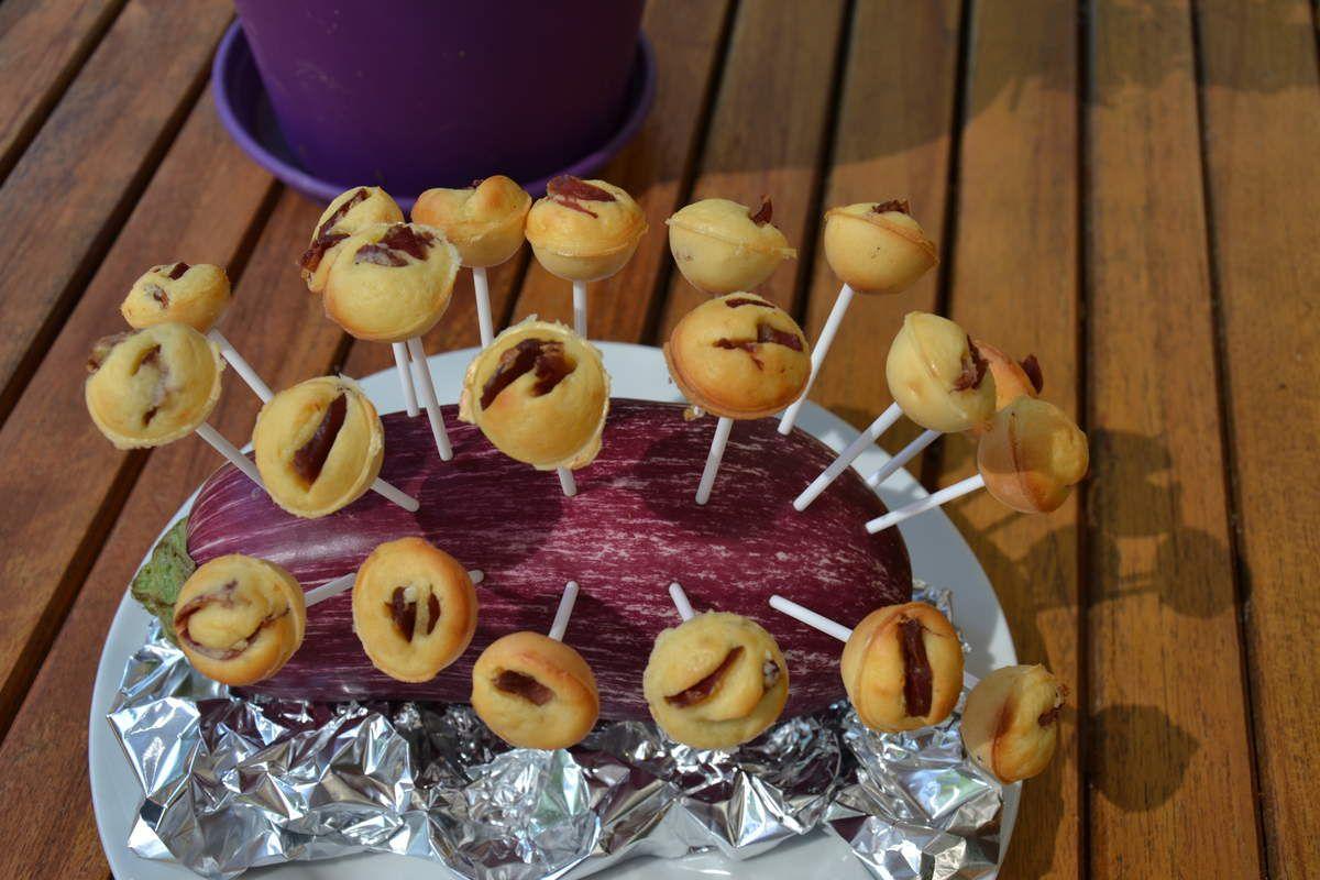 CAKE POPS émincés de gésiers de dinde