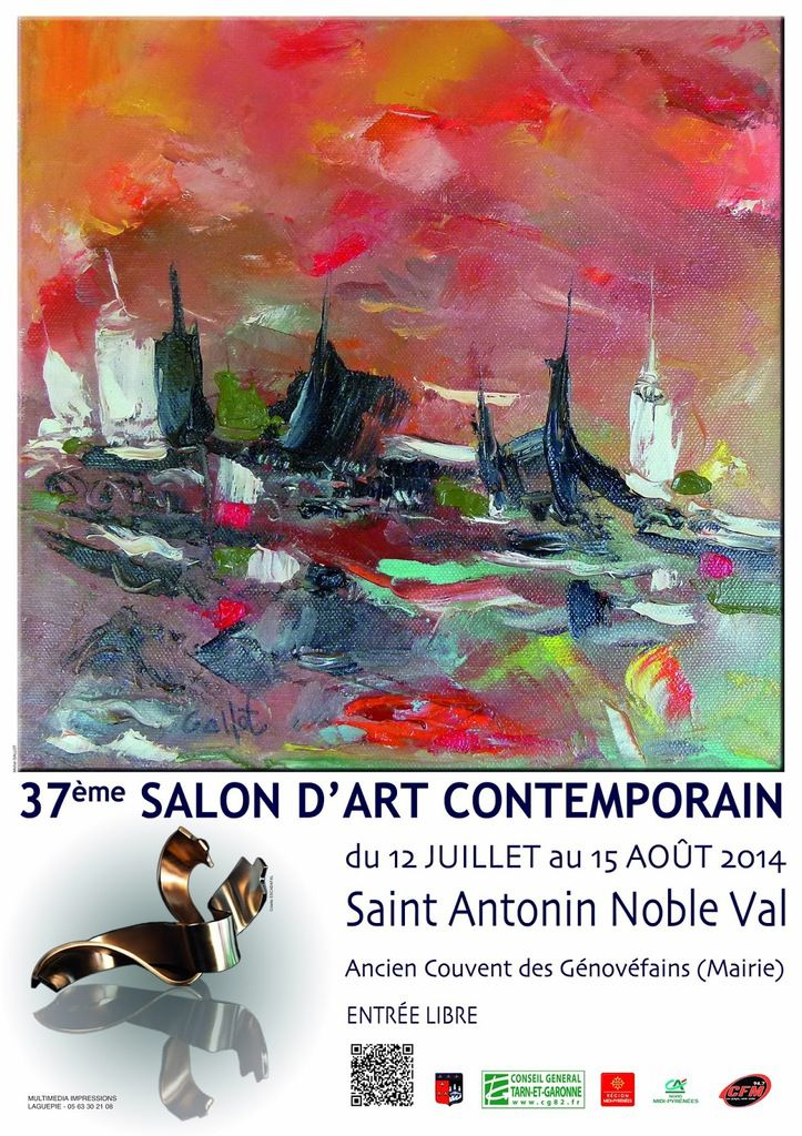 Saint antonin nobleval salon d 39 art contemporain 2014 - Salon art contemporain ...