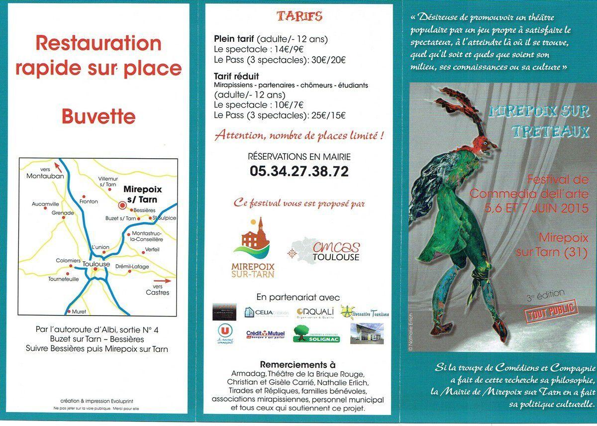 MIREPOIX S/TARN (31) : FESTIVAL DE COMEDIA DELL'ARTE