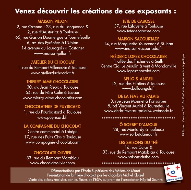 MARCHE DES ARTISANS CHOCOLATIERS DE TOULOUSE