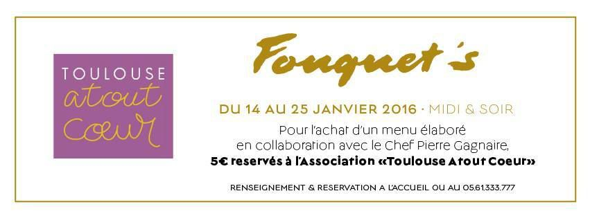 CASINO BARRIERE TOULOUSE : LE FOUQUET'S ET L'ASSOCIATION TOULOUSE A TOUT COEUR